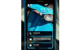 不在着信、SMS、Eメールなどが一覧表示される待受画面の画像