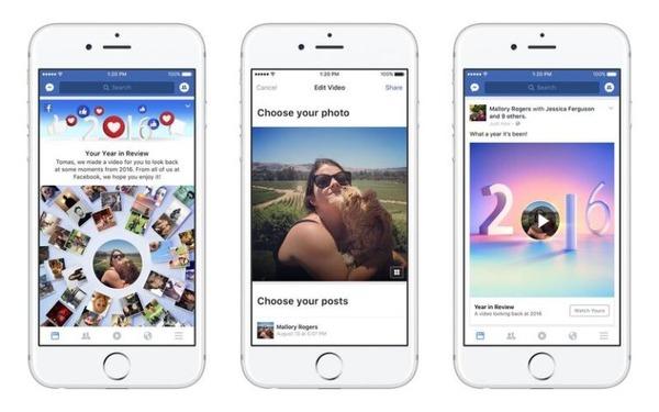 画像: Facebook、ユーザー自身の1年間を振り返る新機能「Year in Reviewビデオ」発表 | RBB TODAY