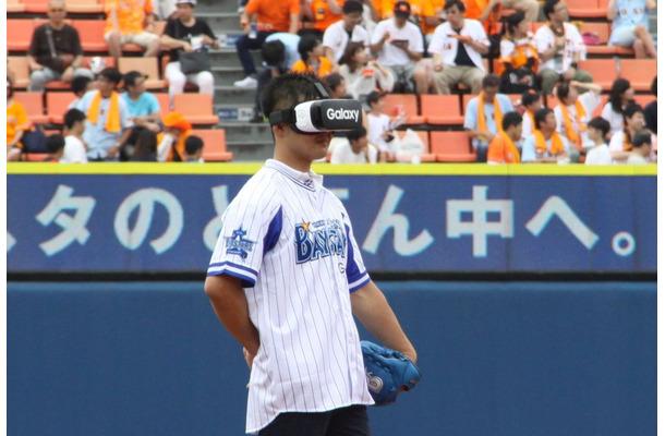 VRを活用した始球式