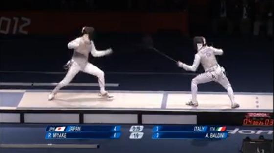 【ロンドンオリンピック】フェンシング男子フルーレ団体銀メダル……残り1秒... 【ロンドンオリン