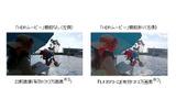 「HDRムービー」機能による鮮明な画像の画像