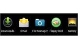 偽の『Flappy Bird』アイコン(右から2つめ)の画像