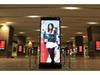 札幌駅JRタワーの大型モニターで札幌美女がを現在時刻をお知らせ