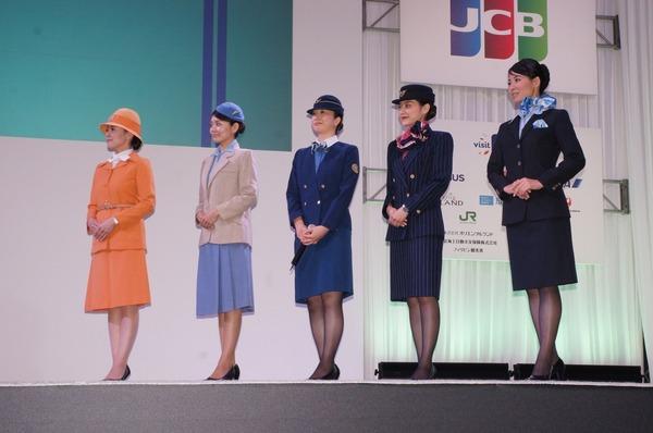 ANA、今冬着用開始する客室乗務員の新制服と歴代... 《撮影:椿山和雄》 ANA、今冬着用開始