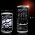 「BlackBerry Torch」のサイズ