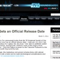 「Episode I The Phantom Menace」は、2012年2月10日に公開