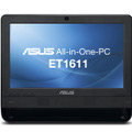 「ASUS All-in-One PC ET1611PUT」ブラック正面