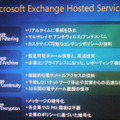 Exchange Hosted Services のサービス群。