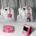 Leather Pouch Case for 3rd iPod nano使用例