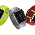 Apple Watch。左から「Apple Watch SPORT」、「Apple Watch」、「Apple Watch EDITION」。