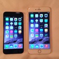 左からiPhone 6、iPhone 6 Plus