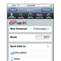 Avaya one-X Mobile for iPhoneの英語版画面