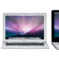 「MacBook」シリーズのMacBook(左)MacBook Air(中)MacBook Pro(右)