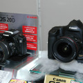 11月27日発売したEOS-1Ds Mark IIや、EOS 20D、EOS Kiss Digitalなどを展示