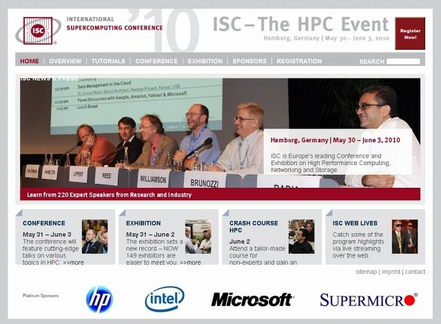 ISC '10(International Supercomputing Conference)サイト