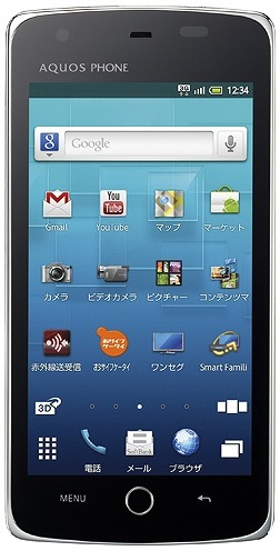 「AQUOS PHONE THE PREMIUM 009SH」ブラック