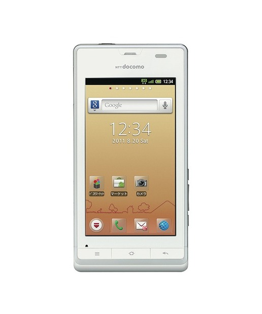 「AQUOS PHONE f SH-13C」「White」