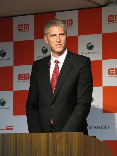 SonyEricsson Mobile Communicationsのグレッグ・バーナー氏(Head of Product Business Line)