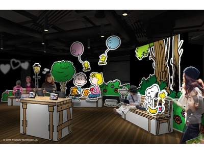 「SNOOPY LOVE GINZA 2012」開場イメージパース