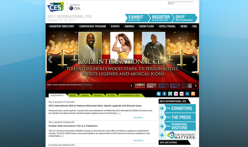 2012 INTERNATIONAL CES 公式サイト