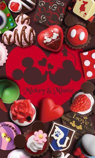 ディズニーバレンタイン仕様のライブ壁紙ディズニーチョココレを
