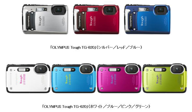 「OLYMPUS Tough TG-820」「OLYMPUS Tough TG-620」