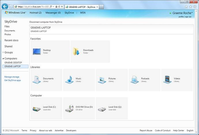 SkyDrive for Windowsプレビュー版