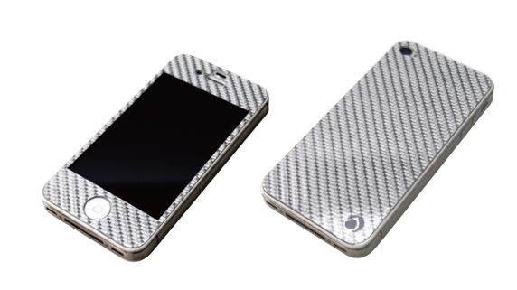 「SILVER CARBON PLATE for iPhone4/4S」シルバー