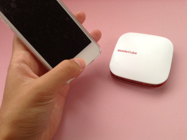 WiMAXルータ「Mobile Cube」で接続