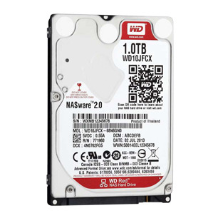 WD Red 1TB 2.5インチ(モデル番号:WD10JFCX)