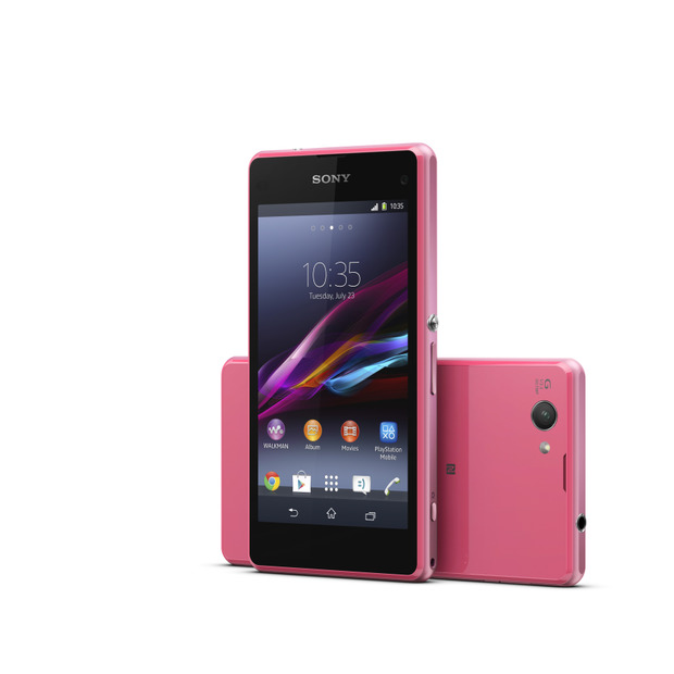 「Xperia Z1 compact」ピンクモデル