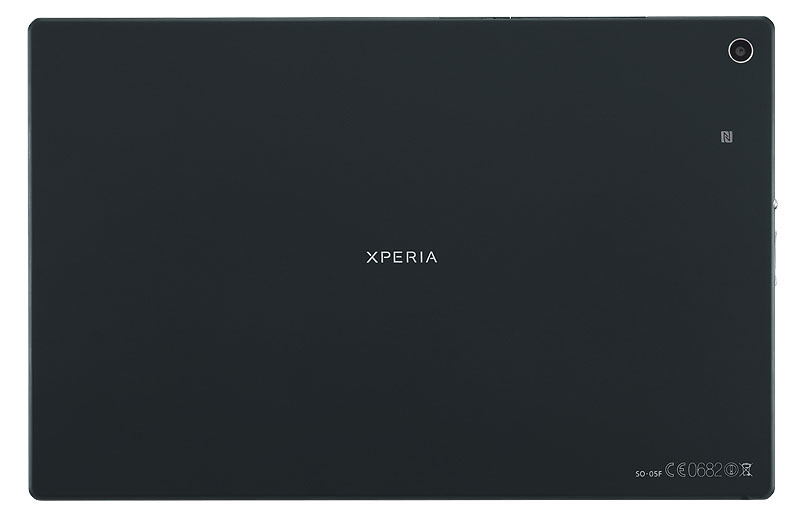 「Xperia Z2 Tablet SO-05F」ブラックモデル背面