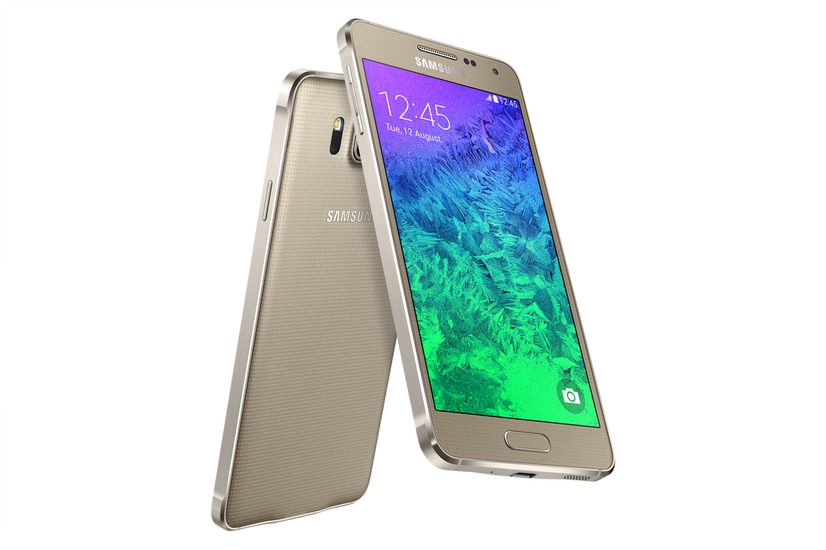 「GALAXY Alpha」Frosted Goldモデル