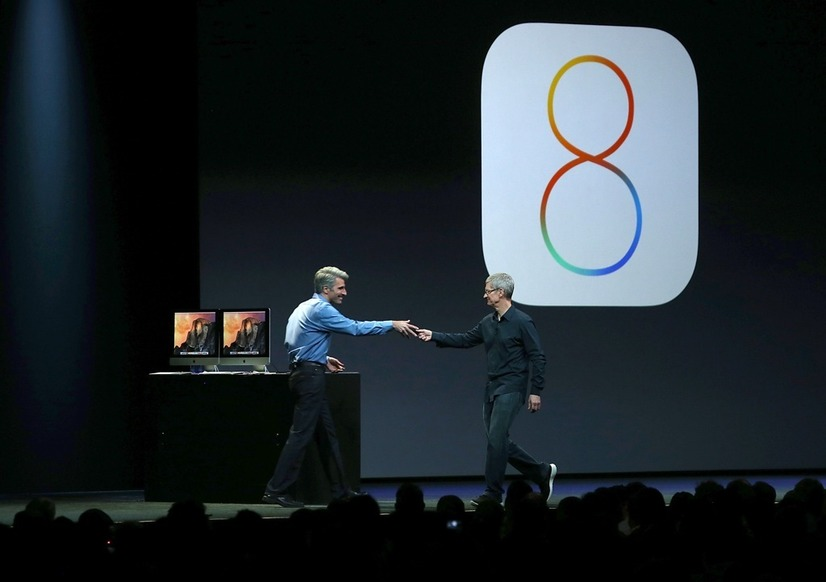 6月のWWDCで iOS8は発表された。 (c) Getty Images