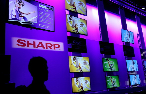 CES2014でのシャープの展示の様子 (c) Getty Images
