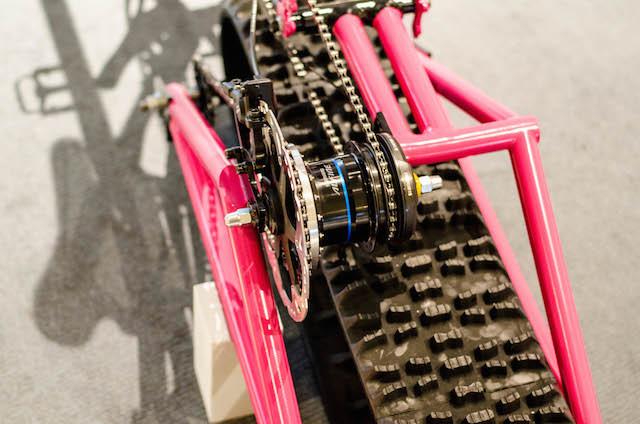 雪道でも楽しめる自転車『Snow path』…東京サイクルデザイン専門学校卒業制作展