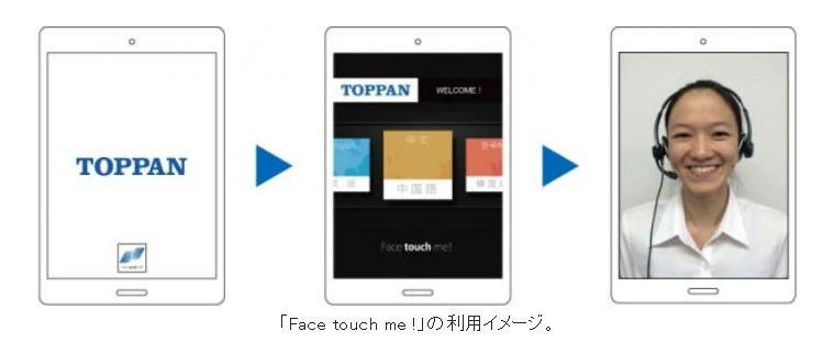 「Face touch me !」の利用イメージ(C)Toppan Printing Co., Ltd.