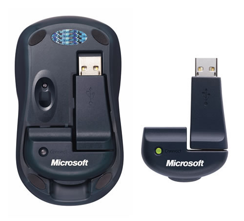 Wireless Notebook Optical Mouse(裏面)