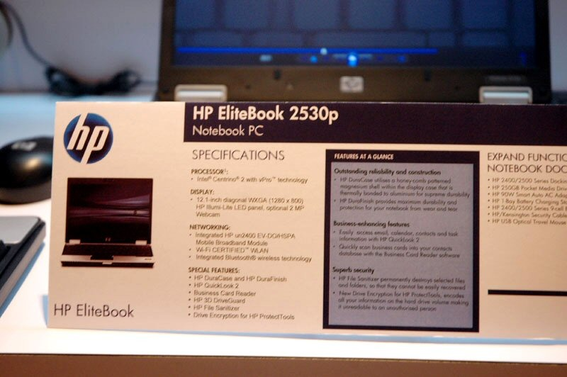 「HP EliteBook 2530p」スペック