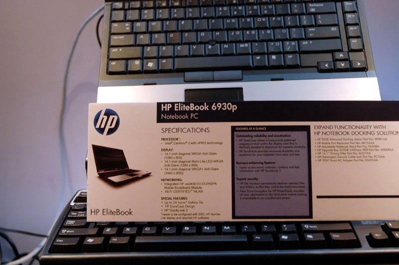 「HP EliteBook 6930p」スペック