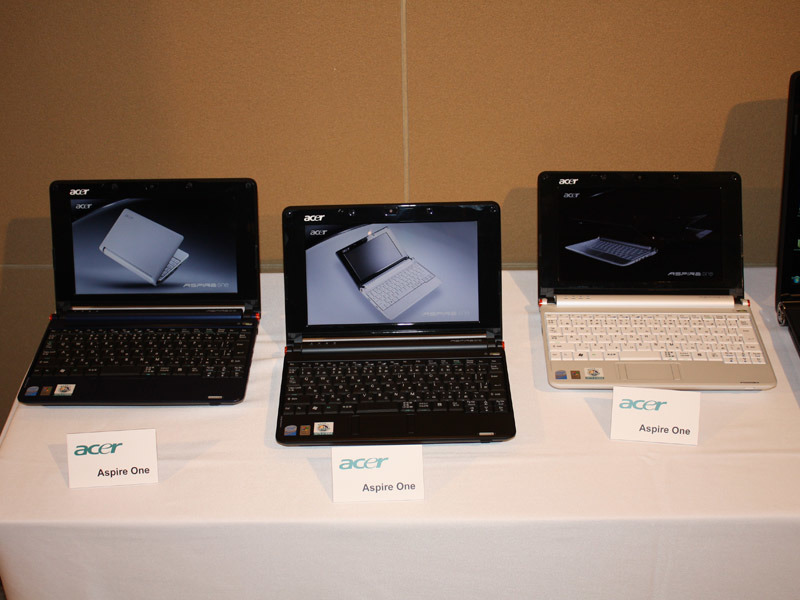 ミニノートPC「Aspire one」