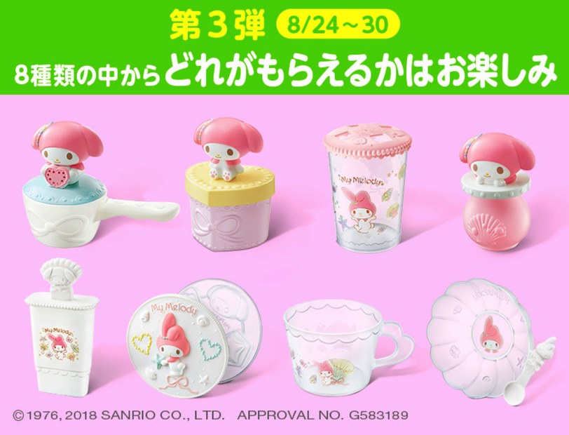 (C) 1976, 2018 SANRIO CO., LTD. APPROVAL No. G583189