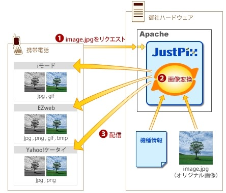 「JustPix for Apache」の概要