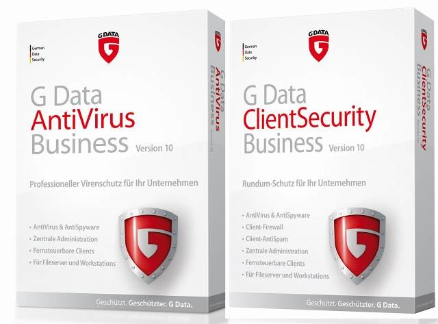 「G Data AntiVirus Business」「G Data ClientSecurity Business」製品パッケージ