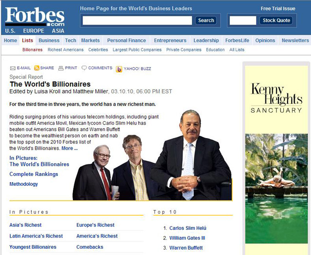 Forbes The World's Billionaires