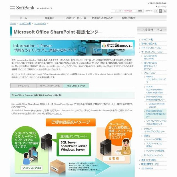 「the Office Server活用術All in One Kit」サイト(画像)