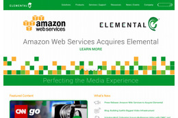 Amazon Web Services、コンテンツ配信ソフト開発のElementalを買収