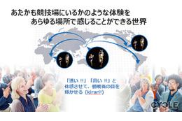 アスリートを擬似3Dでリアルタイム中継、NTTが新技術