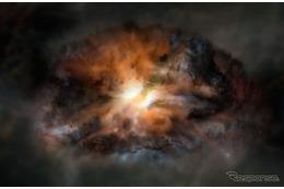 国立天文台、宇宙で最も明るい銀河で激しい乱気流を観測
