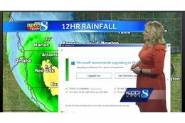 天気予報中にWindows 10アップグレード通知の放送事故!気象予報士がとった対応は?